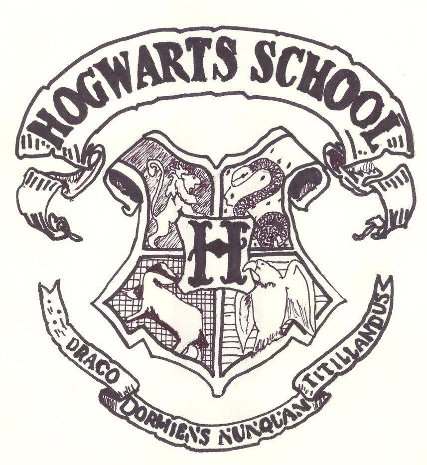 hogwartscrestcoloringpage015.jpg (857×933) Design