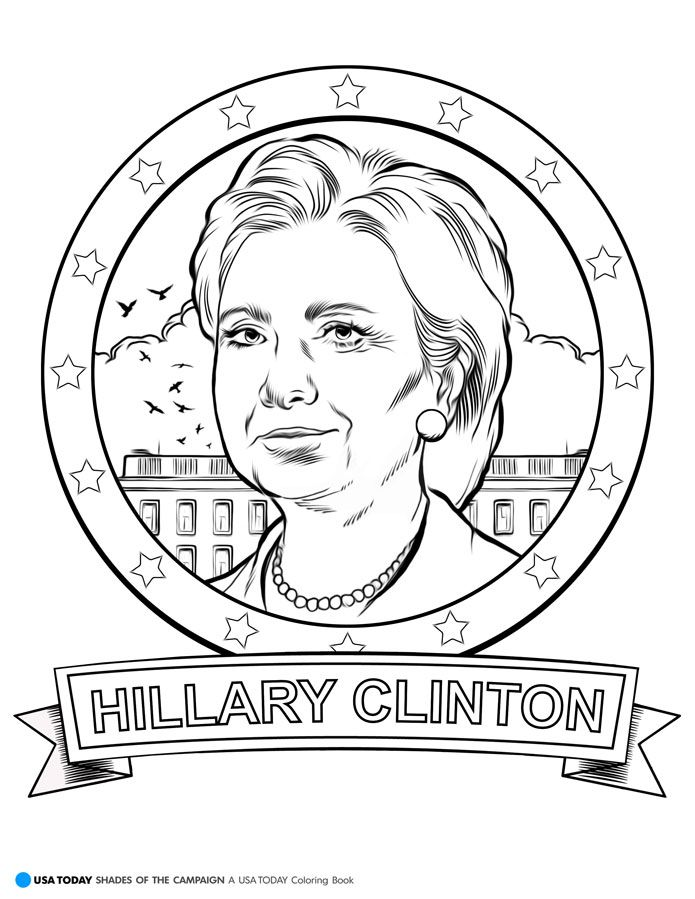hillary clinton  us elections  coloring pages ️more
