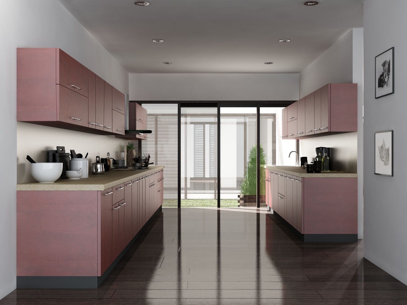 Parallel shaped modular kitchen Parallel shaped Modular