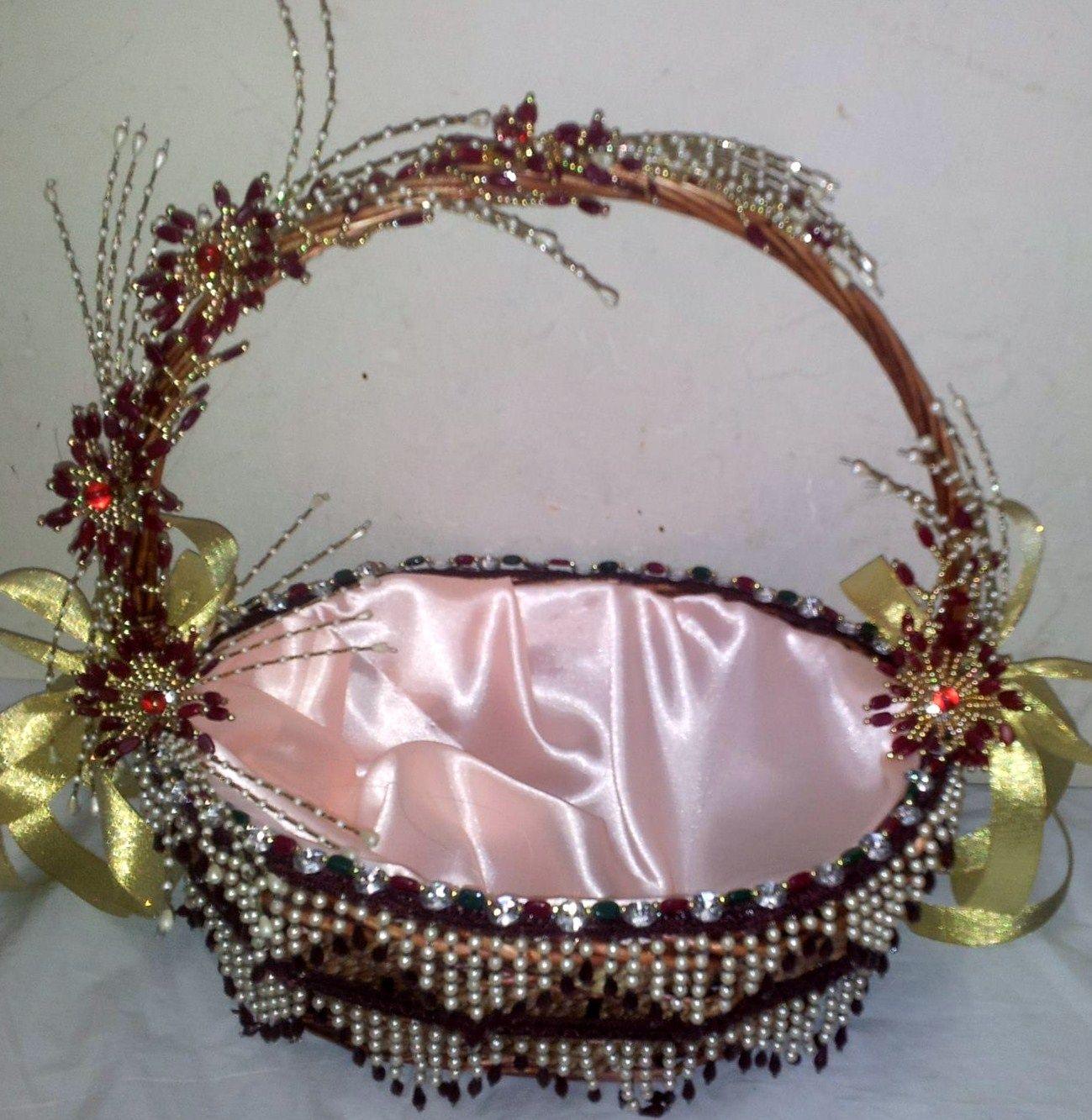 basket decor.... Trousseau Decoration Pinterest