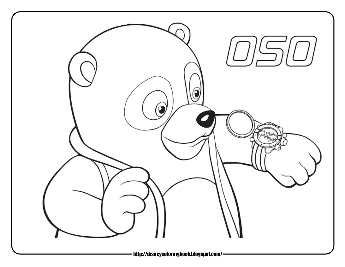 Special Agent Oso Coloring Pages