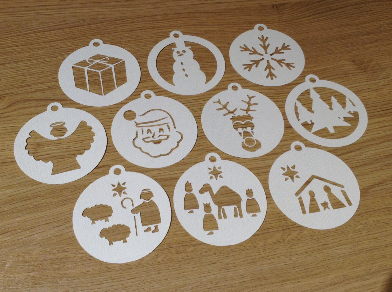 Instant Downloadable make paper cut out card template