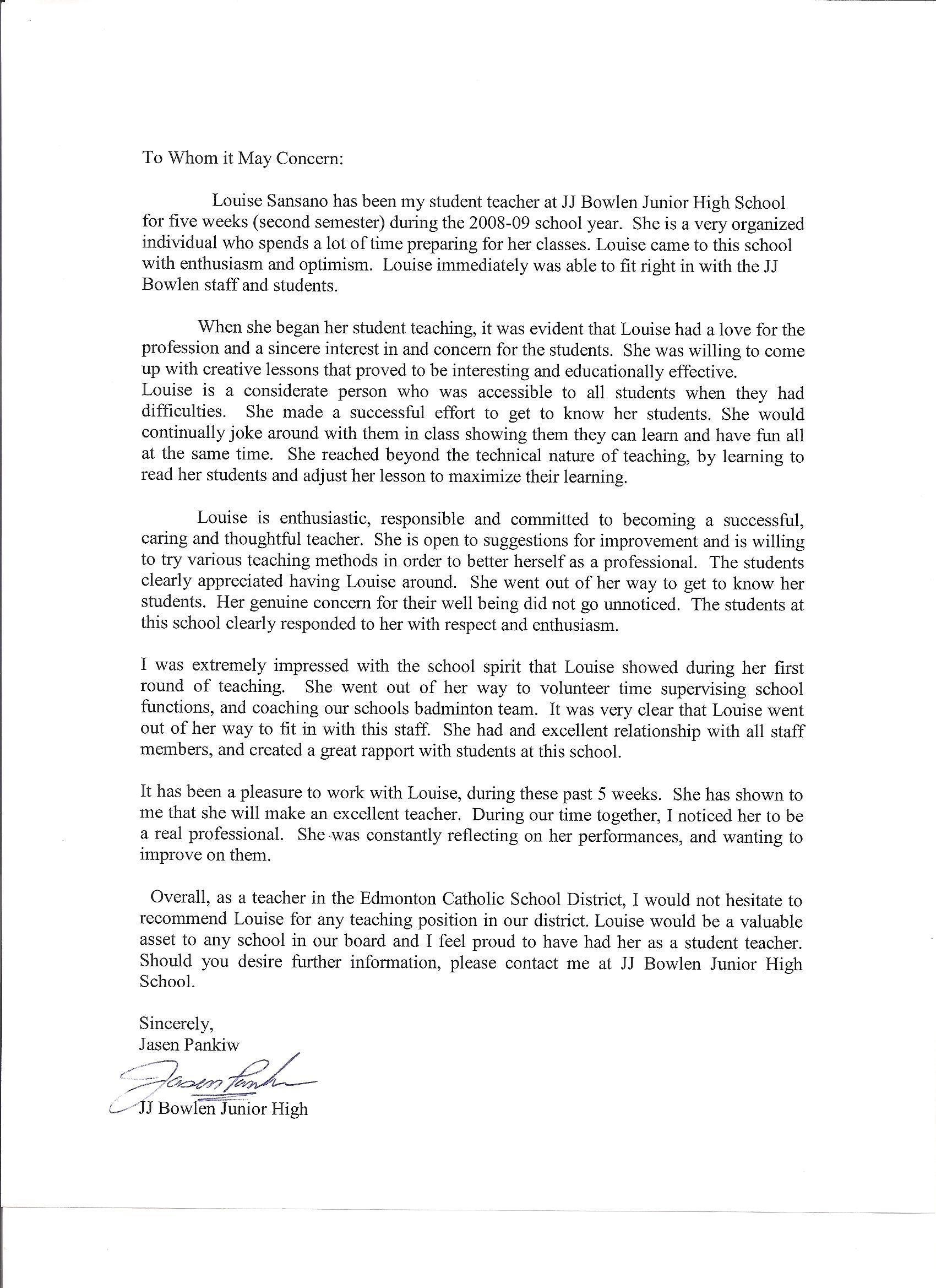 Reference Letter For Student Jos Gandos Coloring's For
