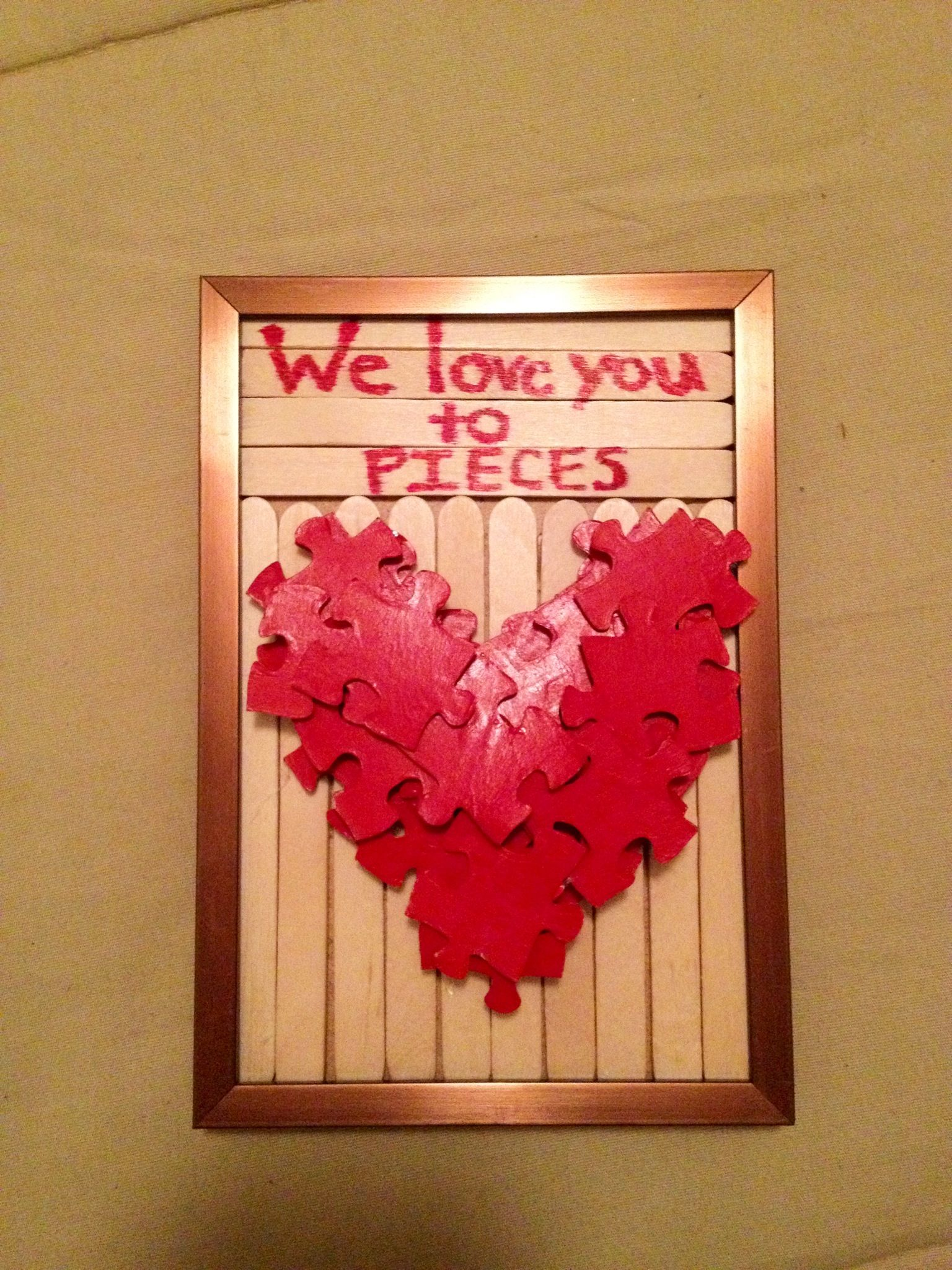 DIY Valentine's gift. great craft for kids to make for mom