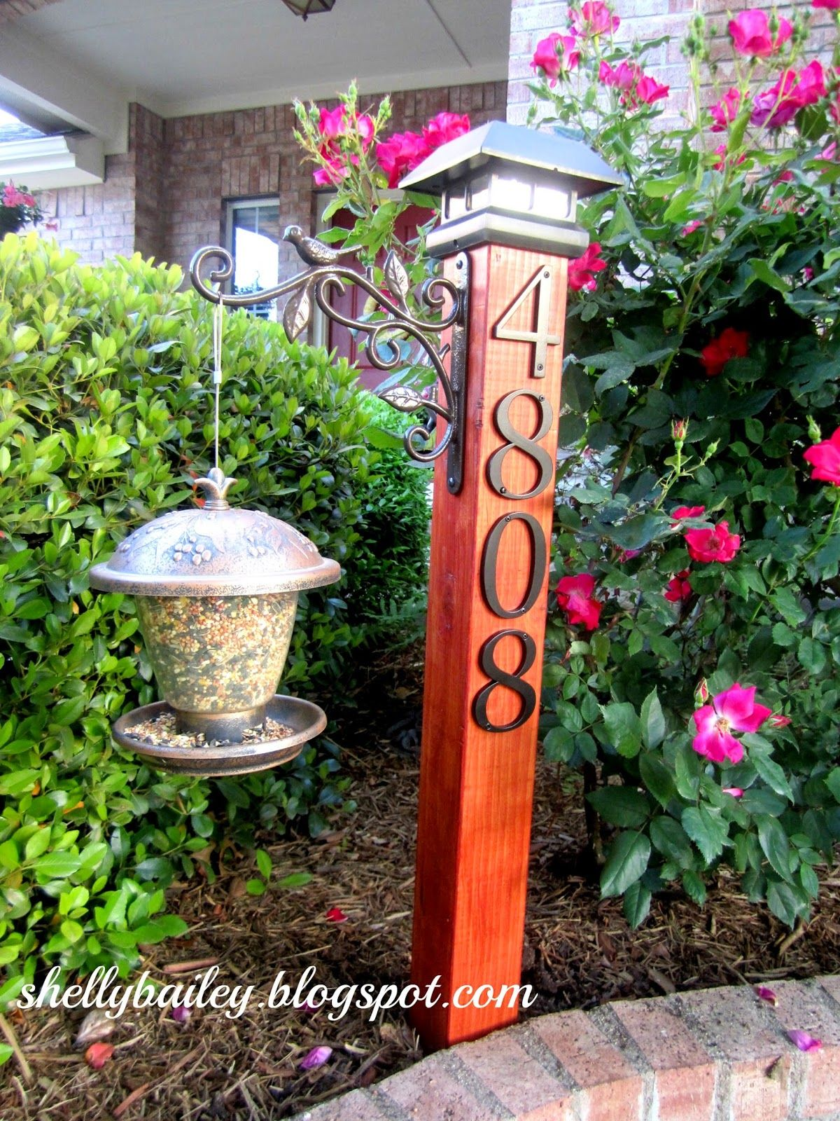 DIY House Number Yard Post A Pinterest Inspired Project