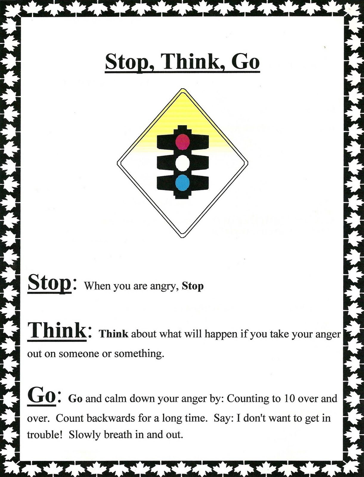 Stop Think Go