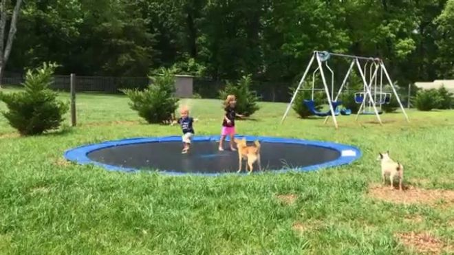 Awesome inground trampoline diy video much easier than