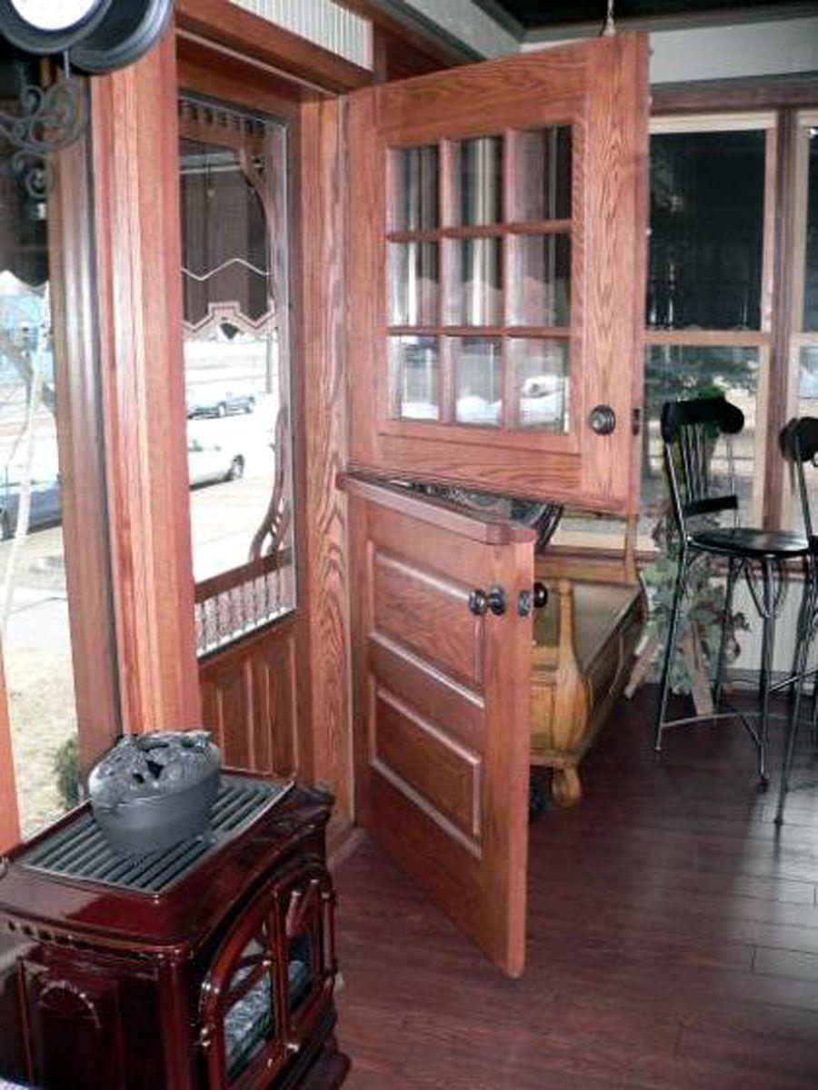 Exterior Dutch Door DD201 Glass Panel Model www