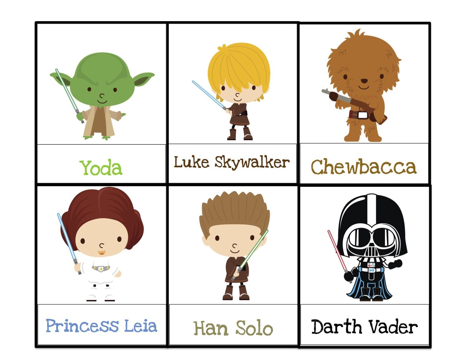 Star Wars Food Labels Free