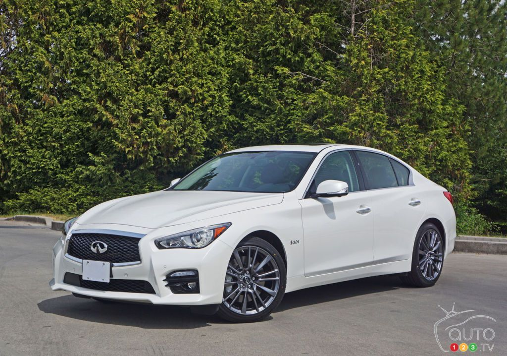 2016 Infiniti Q50 Red Sport 400 AWD Road Test Car