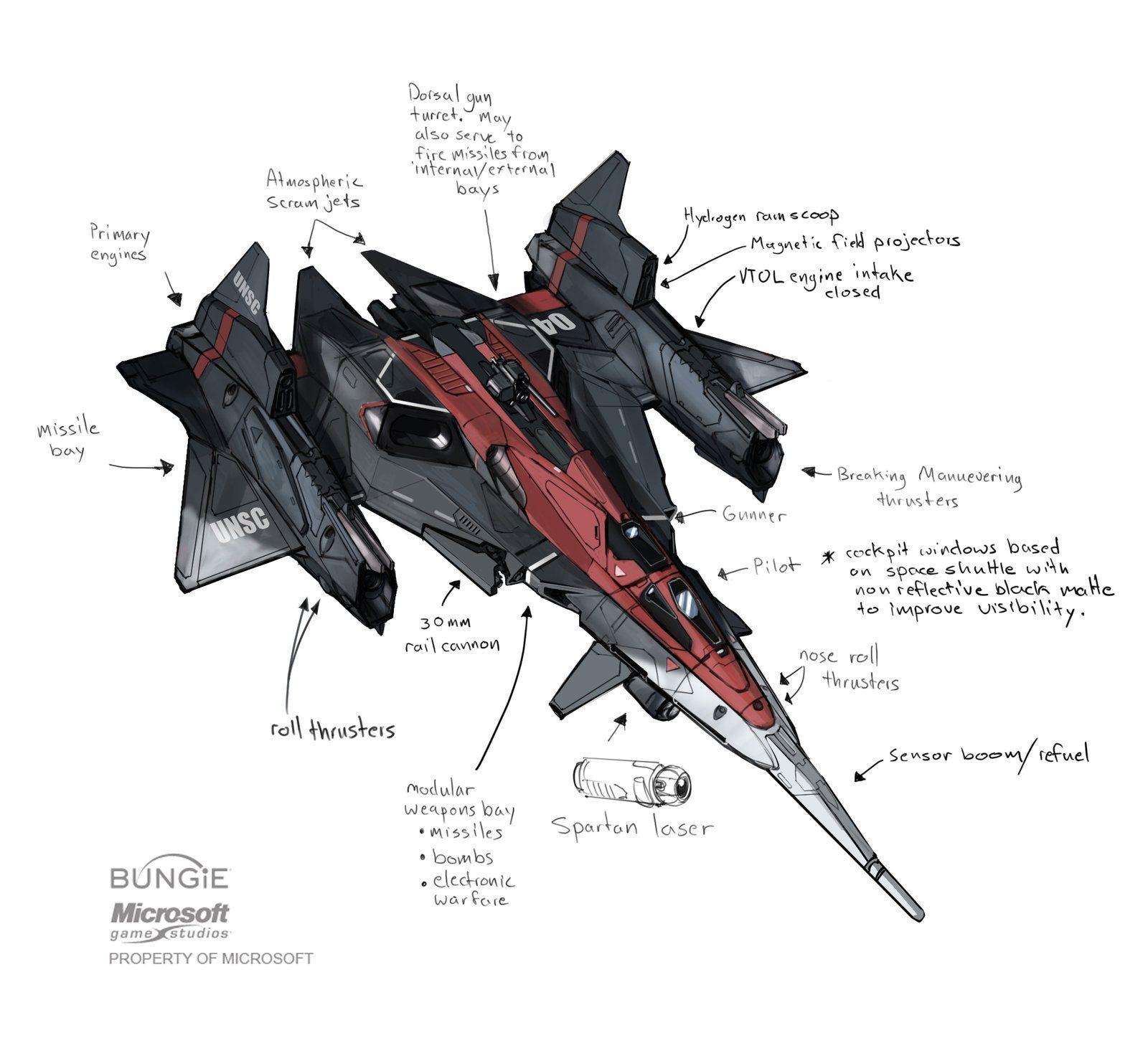 Halo Sabre Starfighter Explorations Isaac Hannaford On