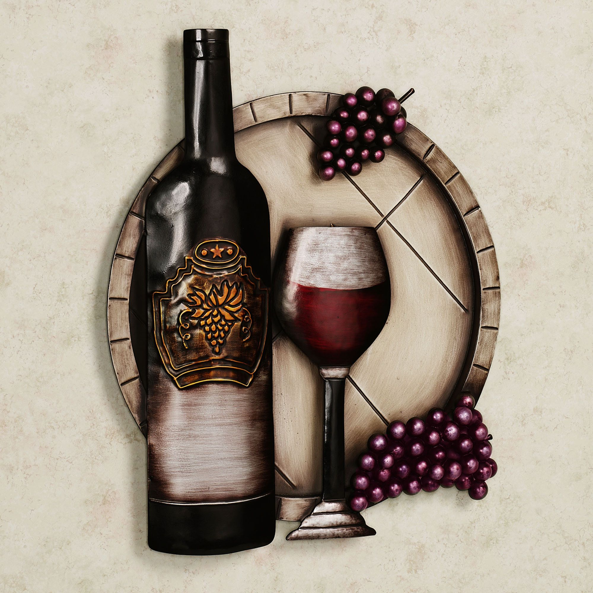 Cellar Reds Wine And Grape Metal Wall Art Red Wines