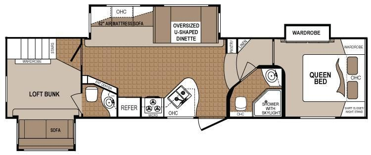 2 bedroom 5th wheel floor plans - google search | rv / wagon
