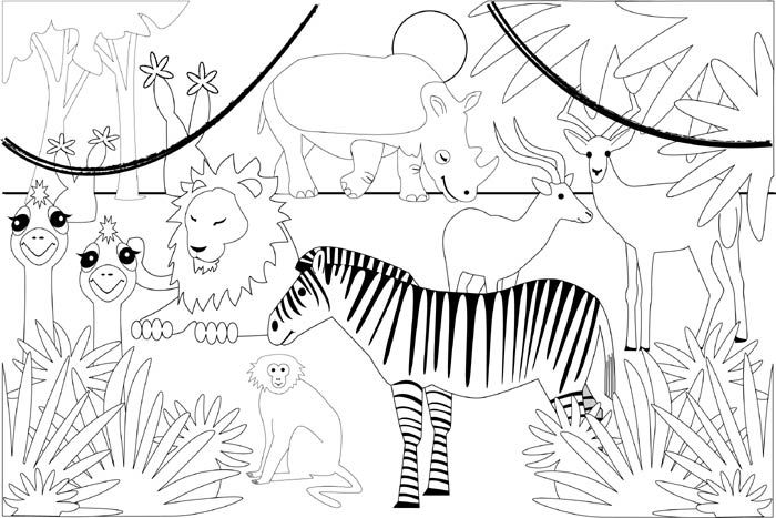 coloring pages coloring and safari on pinterest