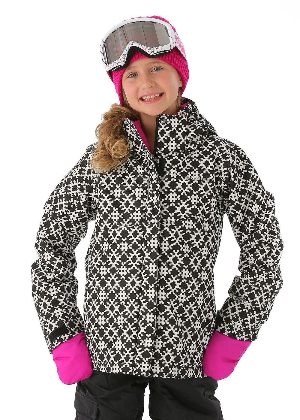 Columbia Girls Bugaboo Interchange Jacket (Black Diamond