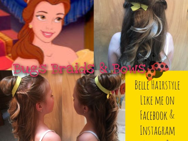 anyone wanting a beautiful belle hairstyle for a birthday party or