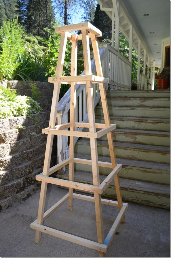 How To Build A Garden Trellis Obelisk Project » The
