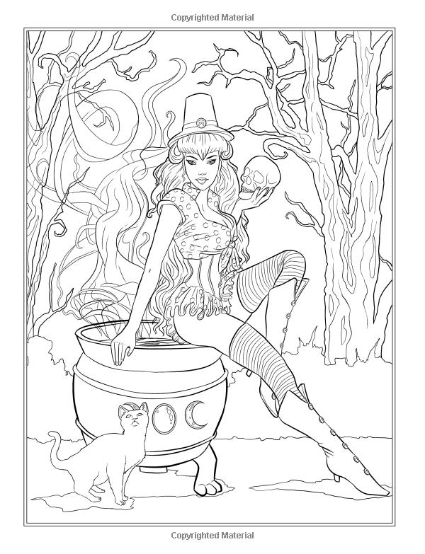 gothic  dark fantasy coloring book (fantasy art coloring