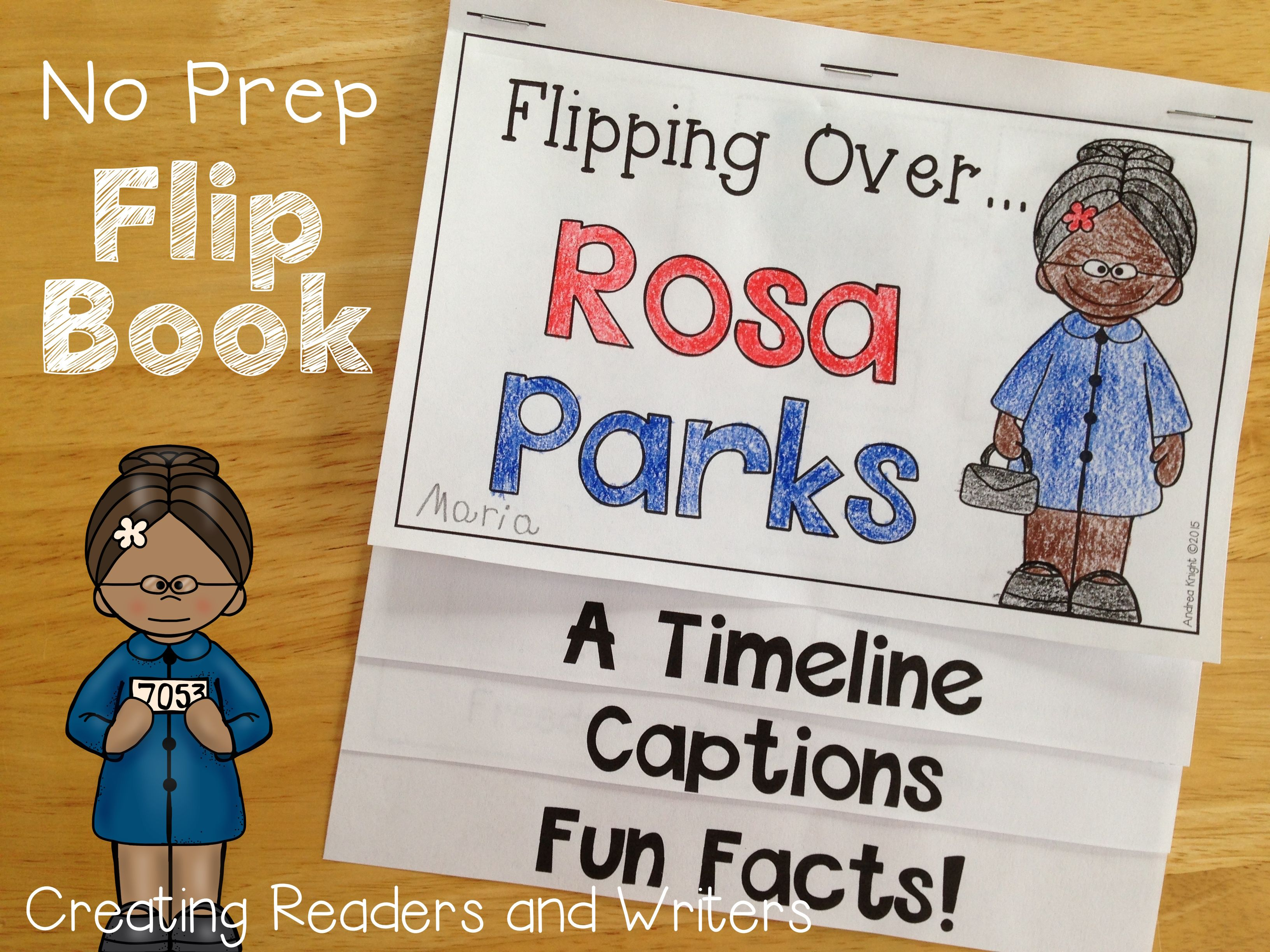 Flipping Over Rosa Parks An Informational Flip Book For Grades 1 2