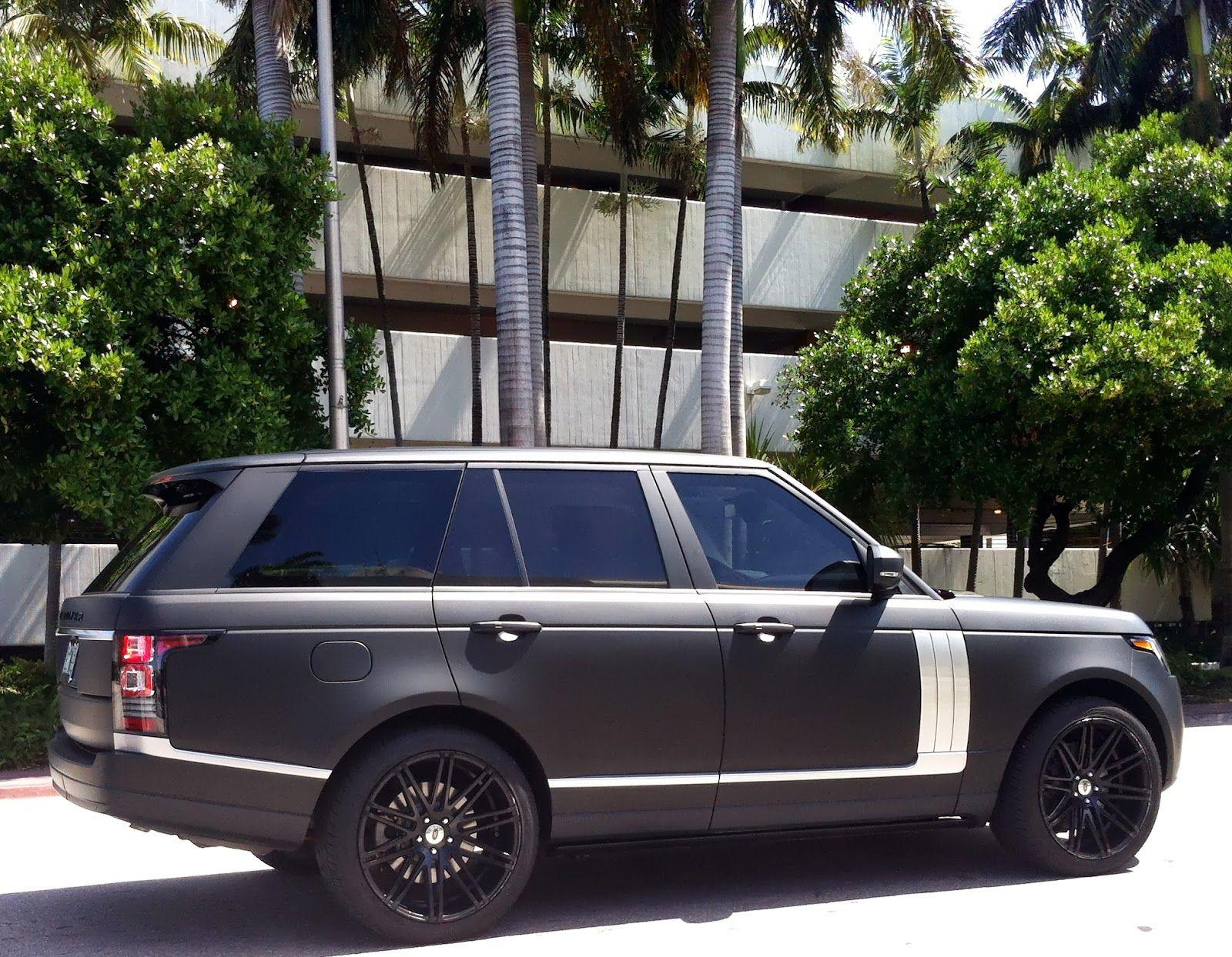 Matte black Range Rover Cars Pinterest