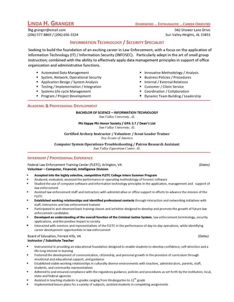 law enforcement resume sample security guard resume objective