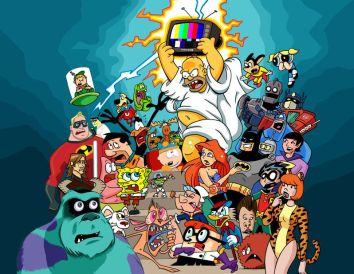 Image result for cartoon characters mashup
