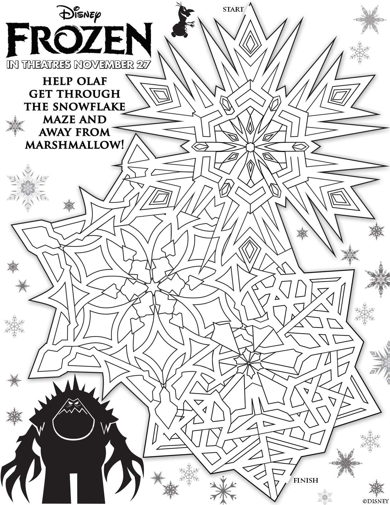 Disney S Frozen Printables Coloring Pages And Storybook