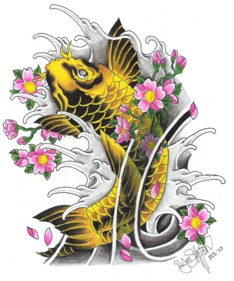 yellowkoifishpinklotusflowertattoodesign.jpg (768