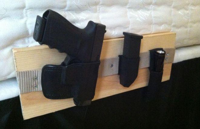 How to make a bedside gun holster http