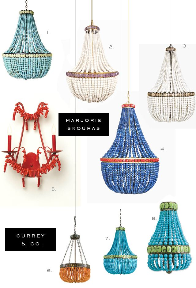 Currey And Company Has Licensed Less Expensive Versions Of Marjorie Skouras Fabulous Hand Beaded