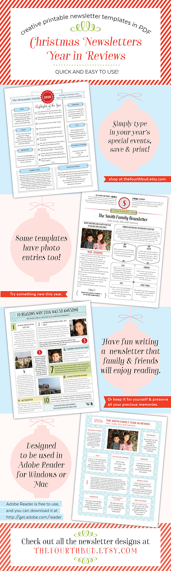 Take your Holiday Newsletter to a new level! Make this