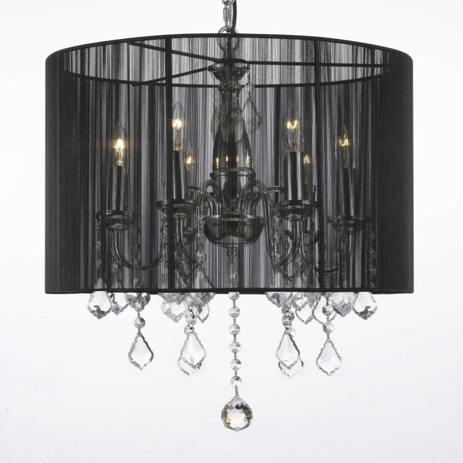 G7 1124 6 Gallery Chandeliers With Shades Crystal Chandelier Shade