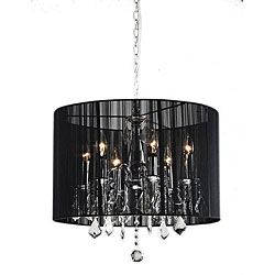 Brighten Your Home Decor With An Elegant Chandelier Lighting Fixture Showcases Black Shade