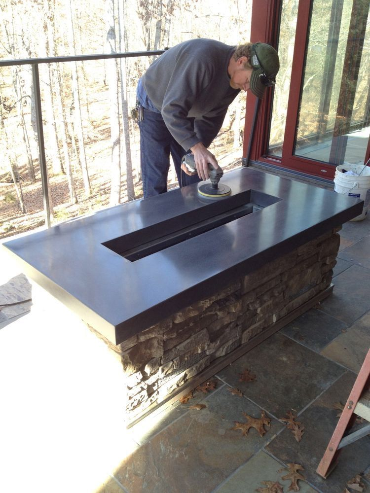 Building a Concrete Countertop for a Fire Pit. (with step