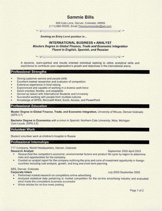 sample resume for fresh graduate casaquadro com