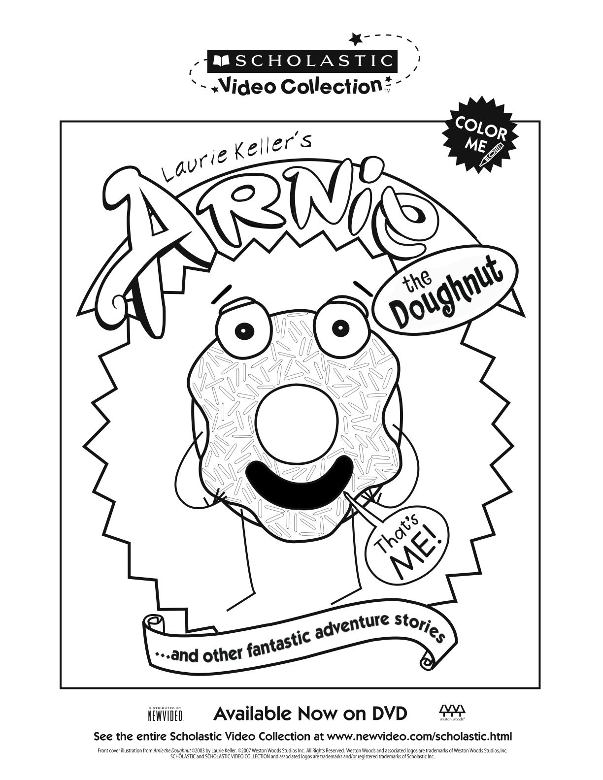 Arnie The Doughnut Coloring Sheet