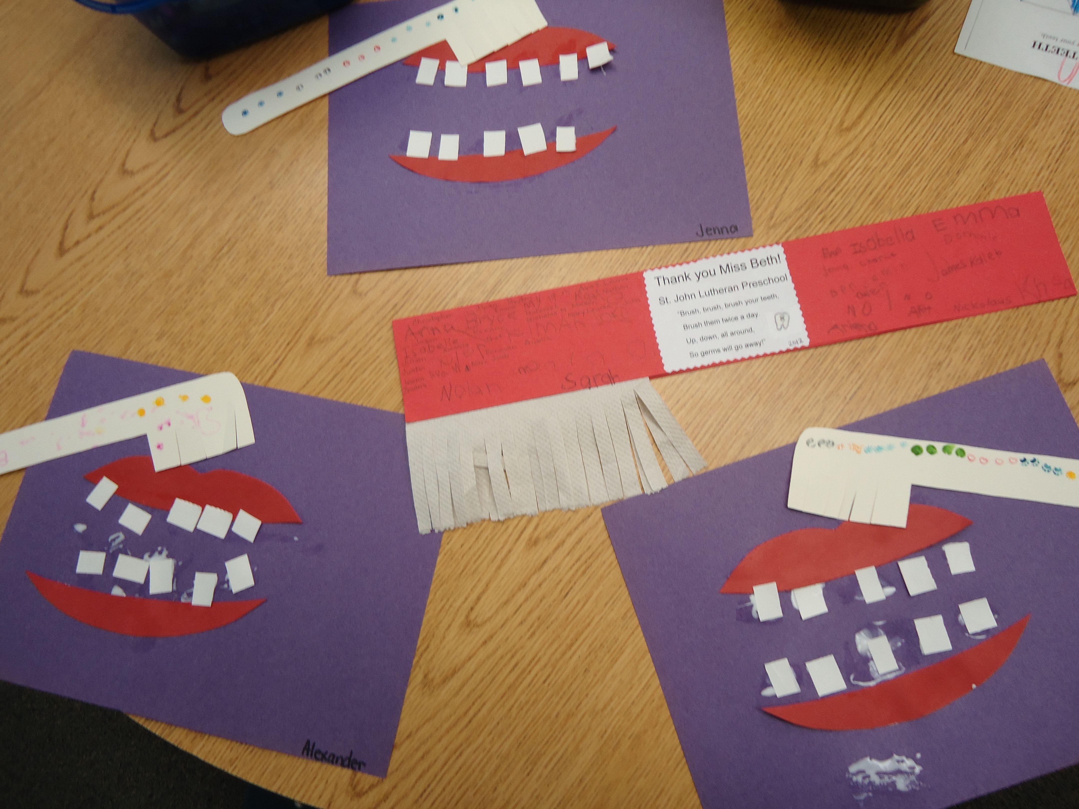 Dental Health Craft For Children