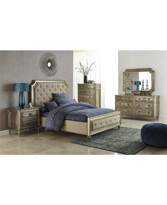 Prosecco 3 Piece Queen Bedroom Furniture Set with Chest Shop All