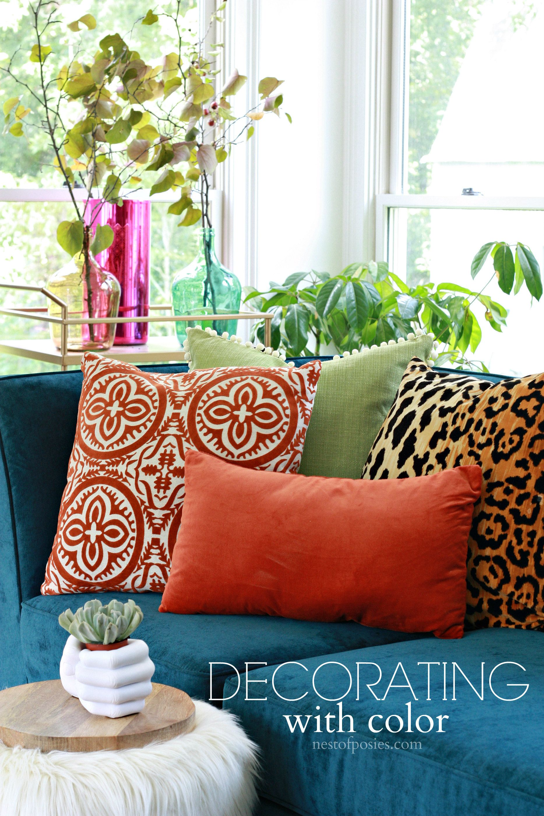 Decorating with color in a home and how to make it cohesive  So the     Decorating with color in a home and how to make it cohesive  So the walls
