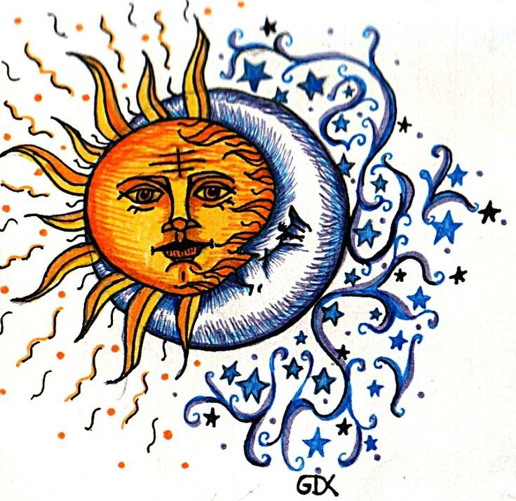 Love this idea of a moon and sun combined. CELESTIAL
