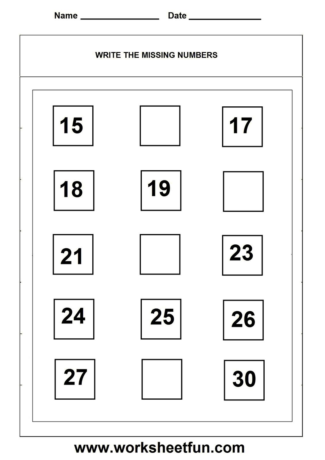 Missing Numbers Worksheet Homeschooling Math
