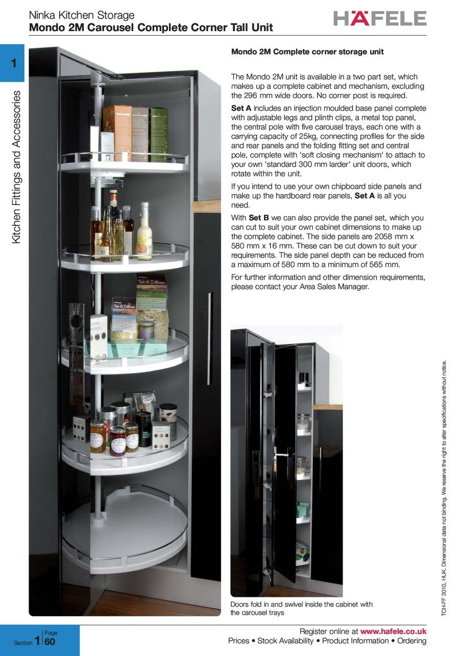 ninka kitchen storage mondo carousel complete corner tall