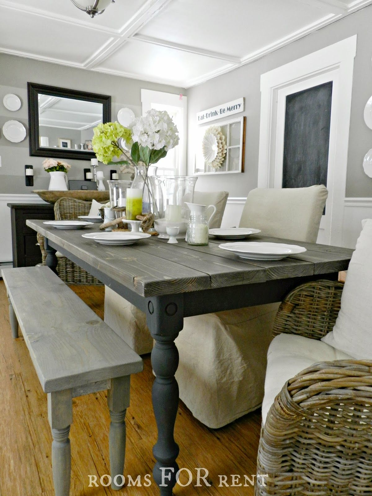 rooms FOR rent Our New Farmhouse Dining Table +DIY