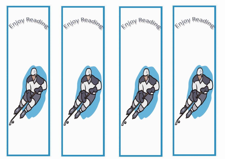 Hockey Themed Bookmarks Themed Bookmarks