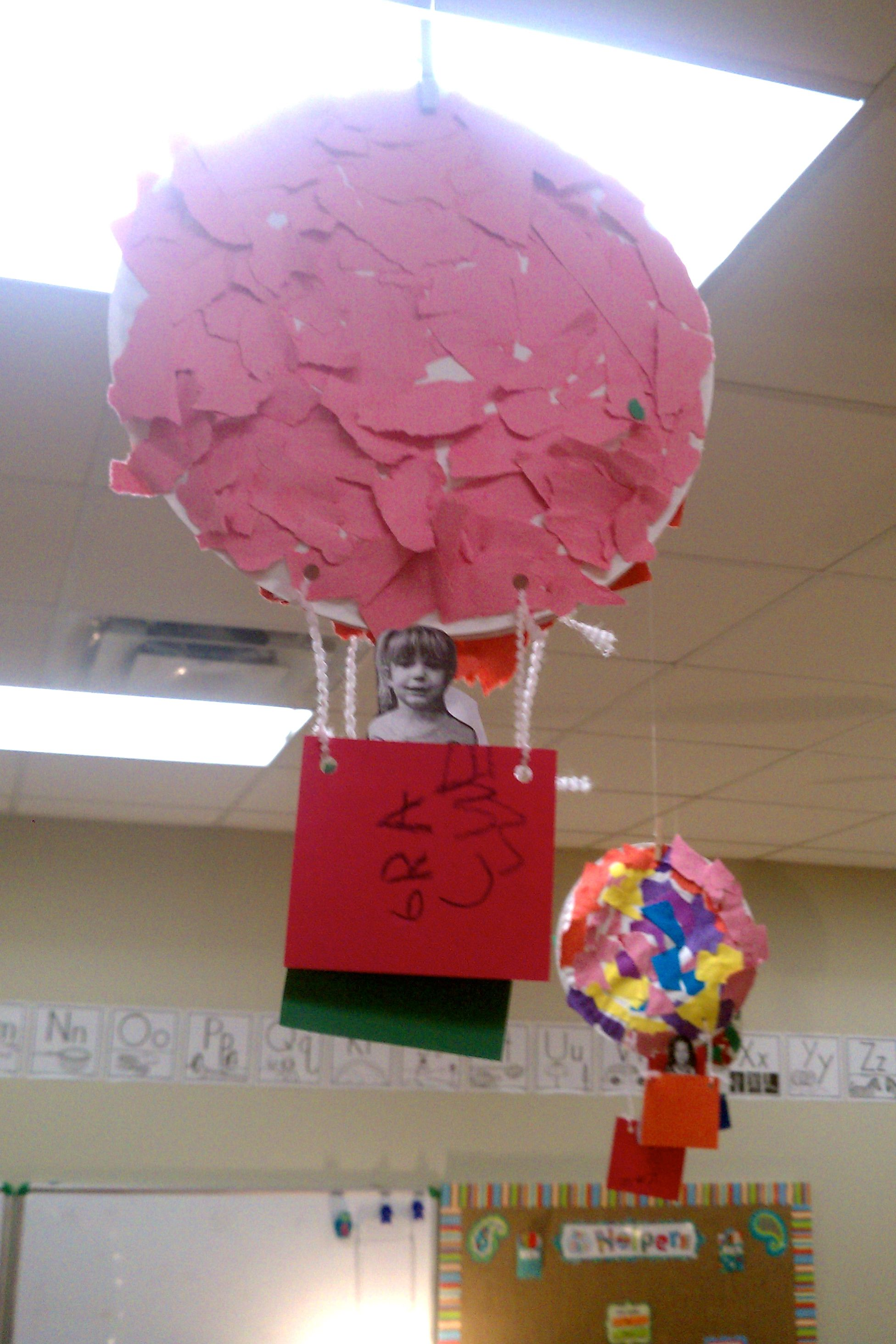 Transportation Week Pre K Tear Paper Hot Air Balloon On A Paper Plate WeatherSpace