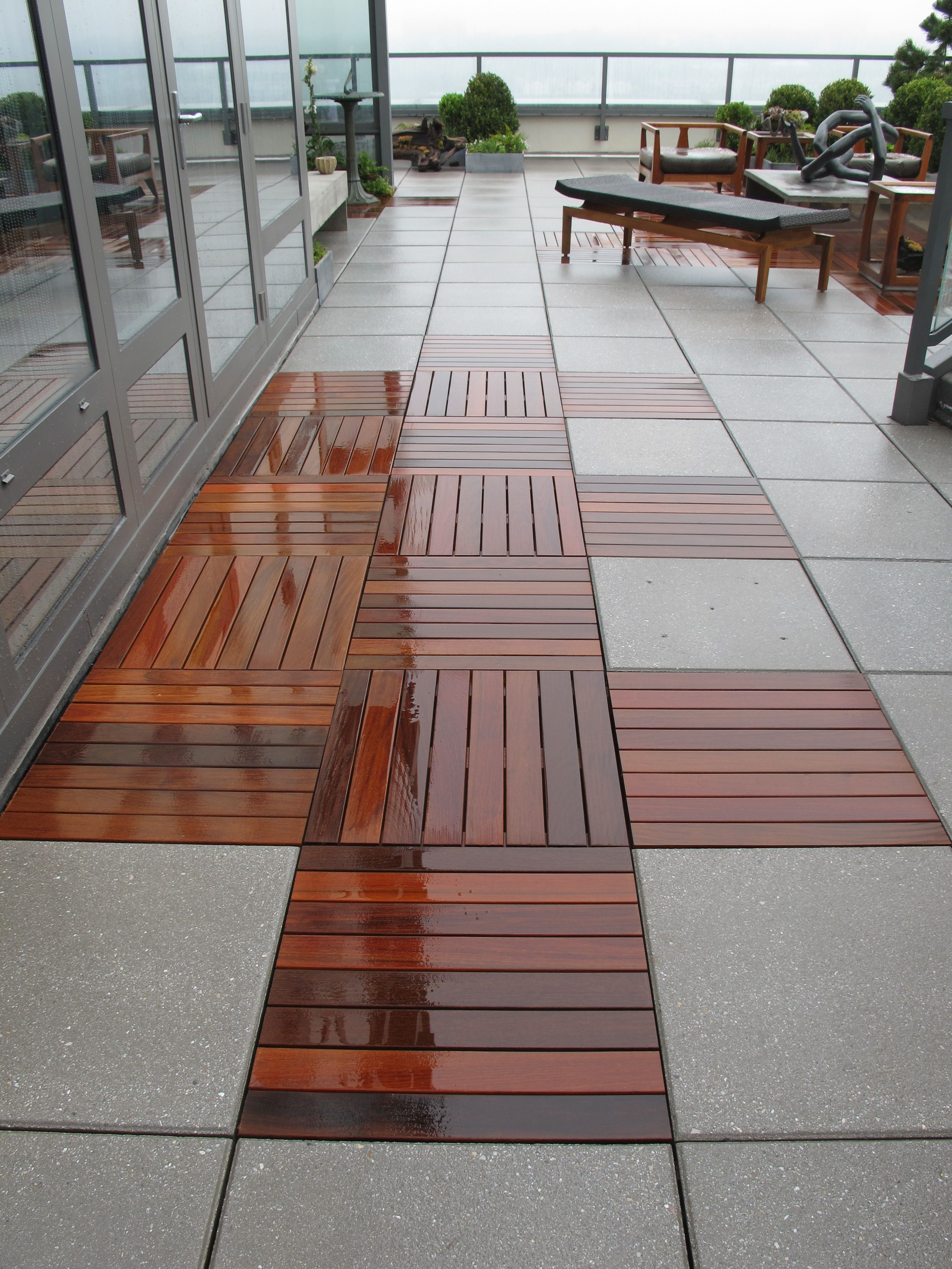 concrete pavers and wood decking at the Kips Bay Showhouse