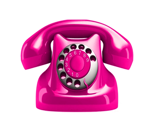 Pink Telephone transparent image Telephone Picture with