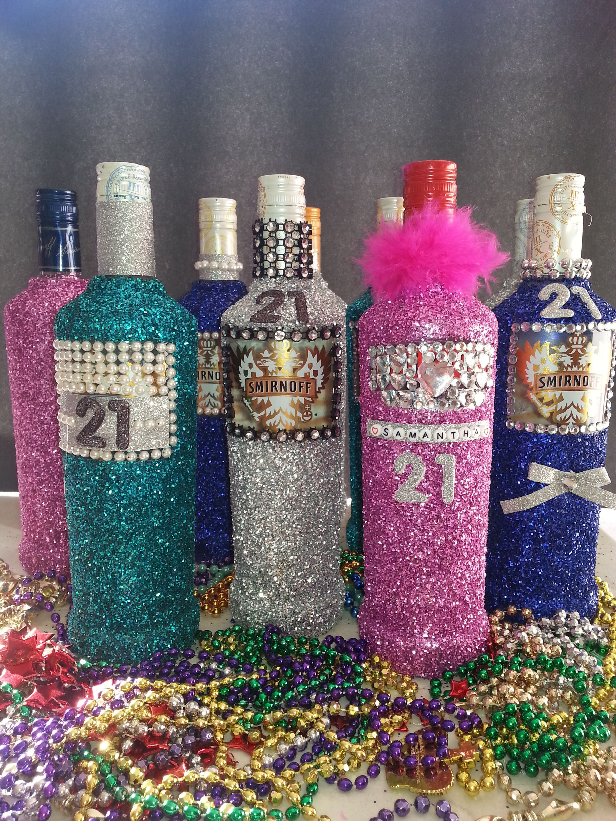Glitter Bottles for a 21st Birthday Party Party Ideas