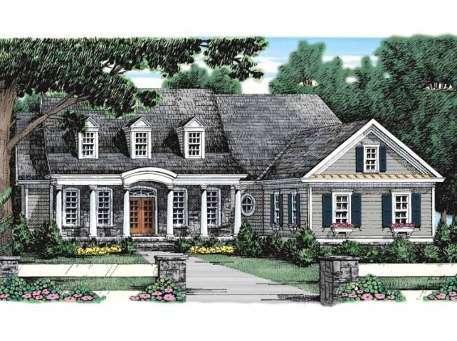 Adam   Federal House Plan with 2477 Square Feet and 3 Bedrooms from     Adam   Federal House Plan with 2477 Square Feet and 3 Bedrooms from Dream  Home Source