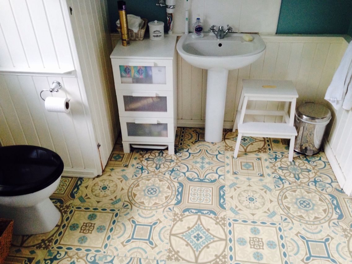 If you like Morrocan style tiles, this vinyl is a budget